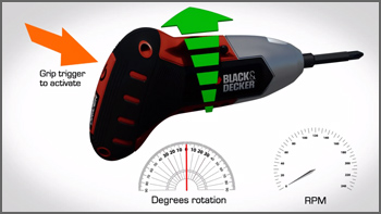 Black & Decker® Gyro Driver™ Motion Sensing Screwdriver